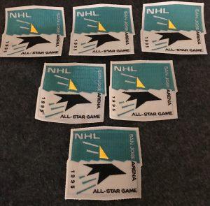 1995 San Jose Sharks All Star Patch.