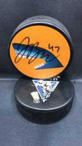 2017-18 San Jose Sharks Limited Edition Mystery Puck #47 Joakin Ryan.