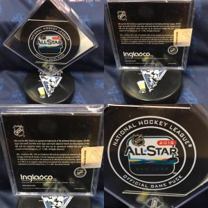 2019 San Jose NHL Allstar Official Game puck.