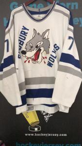 1990's CHL Sudbury Wolves Game worn hockey jersey. CCM Ultrafil.