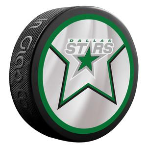 2021 Dallas Stars 2 Sided Official Retro Jersey puck.