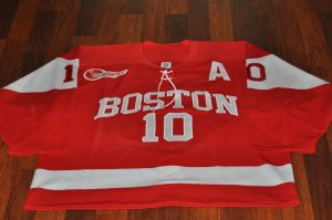 2015-2016 Boston University. Bean Pot Tournament Game worn jersey. #10 Danny O'Regan. Size 52.