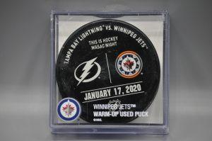 2020 Winnipeg Jets Warm Up Puck.