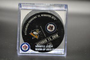 2019 Winnipeg Jets Warm up puck.