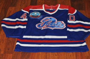 Regina Pats old school game worn jersey. #40 Player unknown. Year unknown. Obtained from team many years ago.
