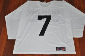 2008 China Sharks White Training camp jerseys.  Obtained from team.  Light weight material.