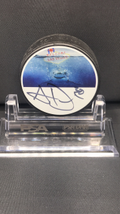 2019-20 San Jose Sharks Foundation Limited Edition Mystery Pucks Series. #30 Aaron Dell
